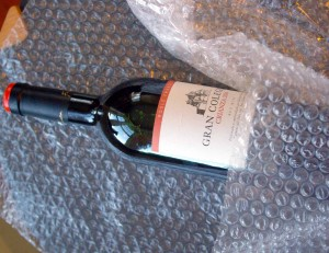 bubble wrap packing for wine