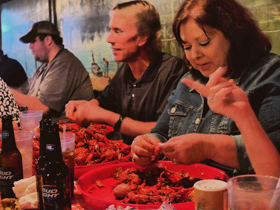 Crawfish eaters