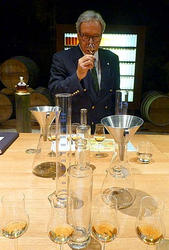 Frederic Dezauzier in blending room at Camus