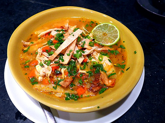 tortilla soup with lime
