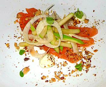 Salmon with apple fennel salad at Cleaver East in Dublin