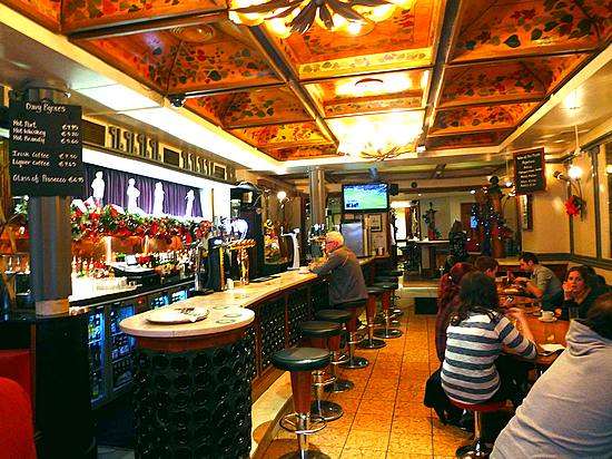 Interior of Davy Byrnes Pub in Dublin