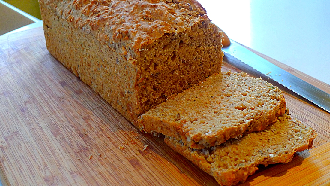 Irish brown soda bread loaf