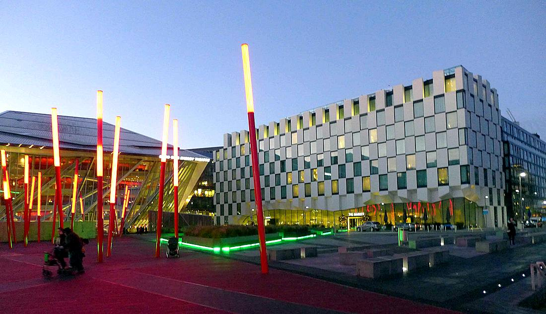 The Marker (right) and the Bord Gais Energy Theatre (left)