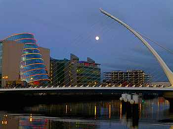 Samuel Becket Bridge in Dublin Docklands