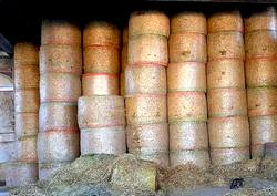 3 - bales of hay
