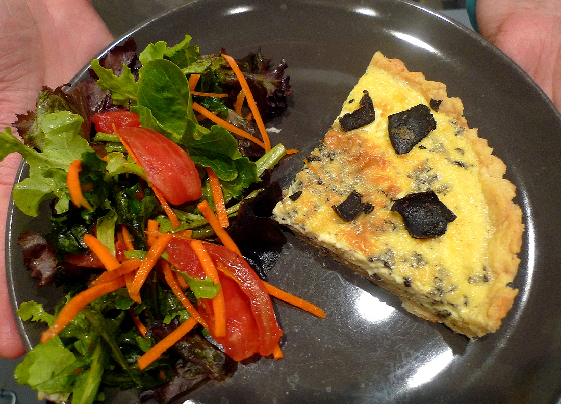 Black truffle quiche