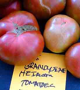 Brandywine tomatoes at Lexington Farmers Market