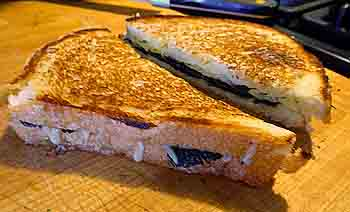 grilled cheese and truffle sandwich
