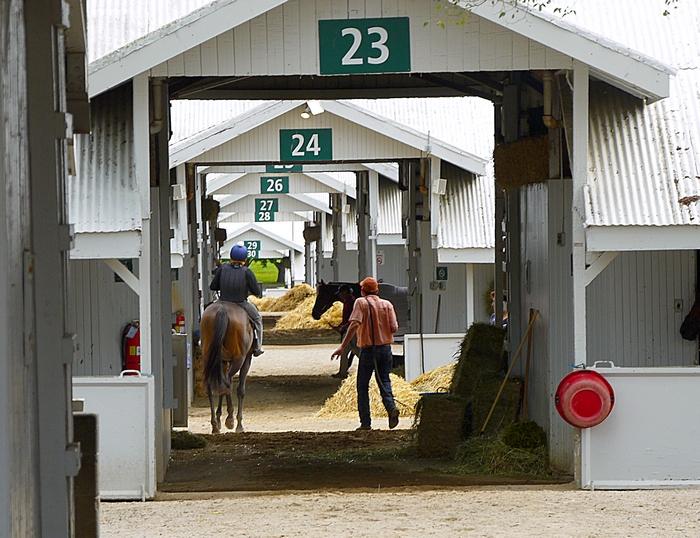 Keeneland horse barns