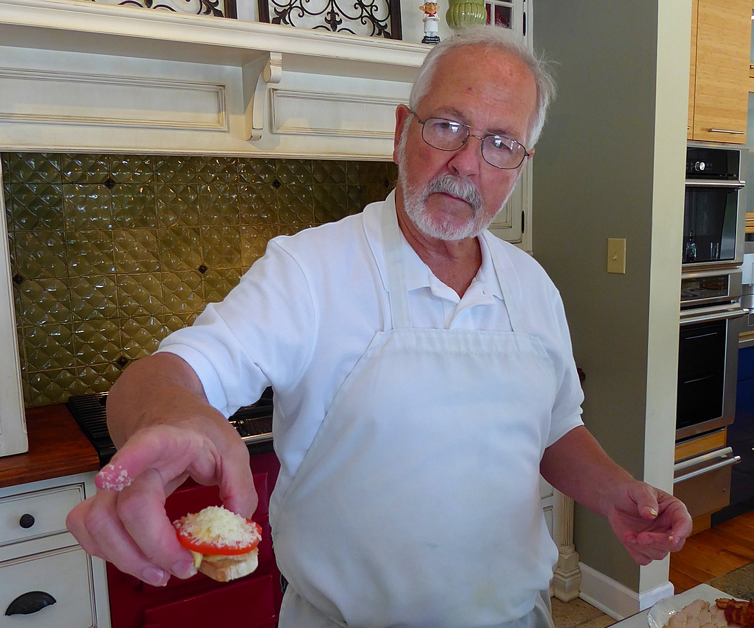 Phil Dunn offers min Hot Brown in cooking class
