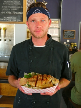 Jonathan Fanning, chef de cuisiine at Smithtown Seafood in Lexington, KY