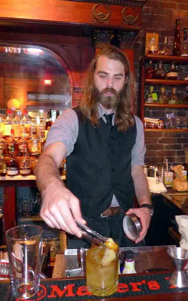 Seth Kinder prepares a Blue Heron 46