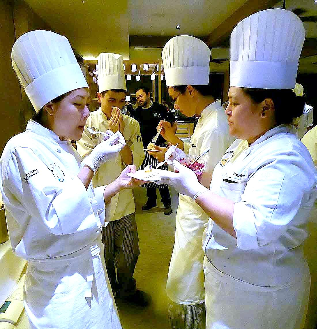 Culinary students at Hawaii Food & Wine Festival