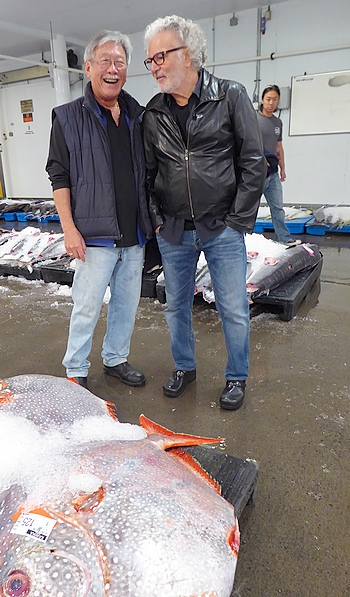 Brooks Takenaka and Chef Mavro at Honolulu Fish Auction