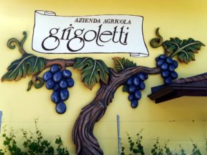 Grigoletti winery sign