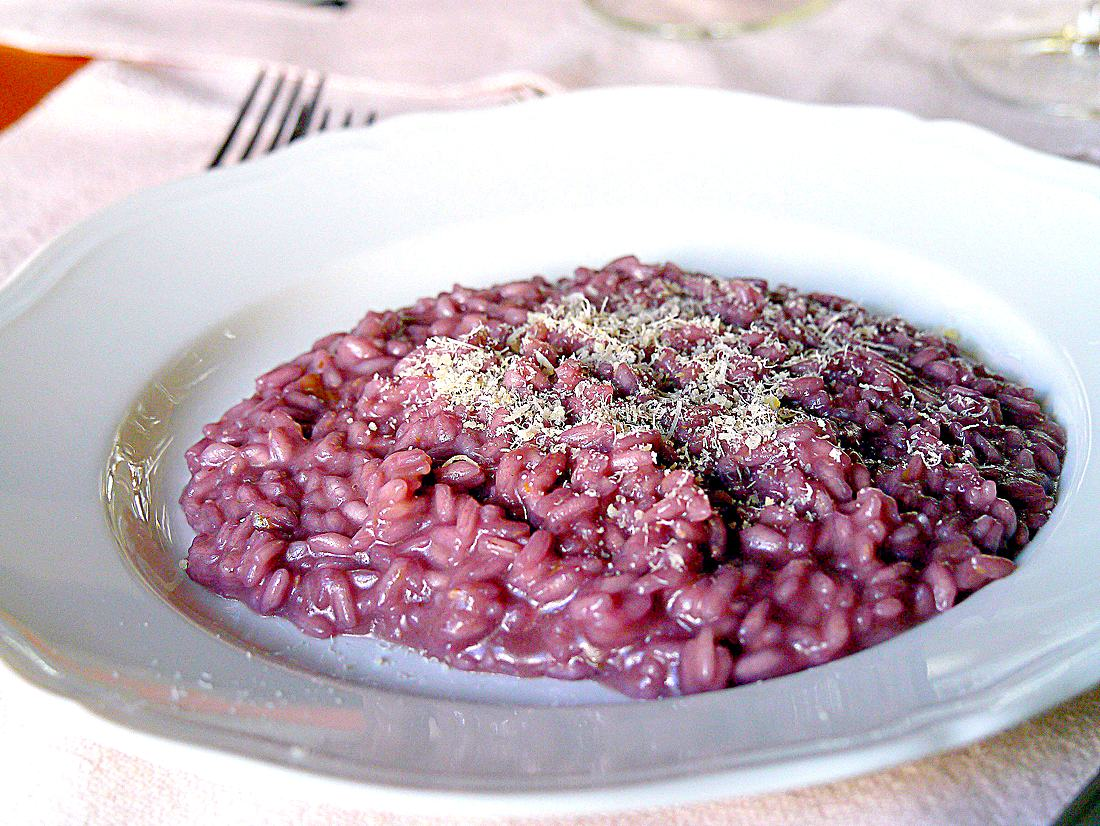 Mostralunch red wine risotto