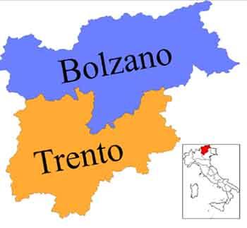 Trentino Alto Adige map