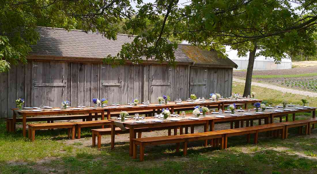 Chatham Bars Inn Farm picnic tables