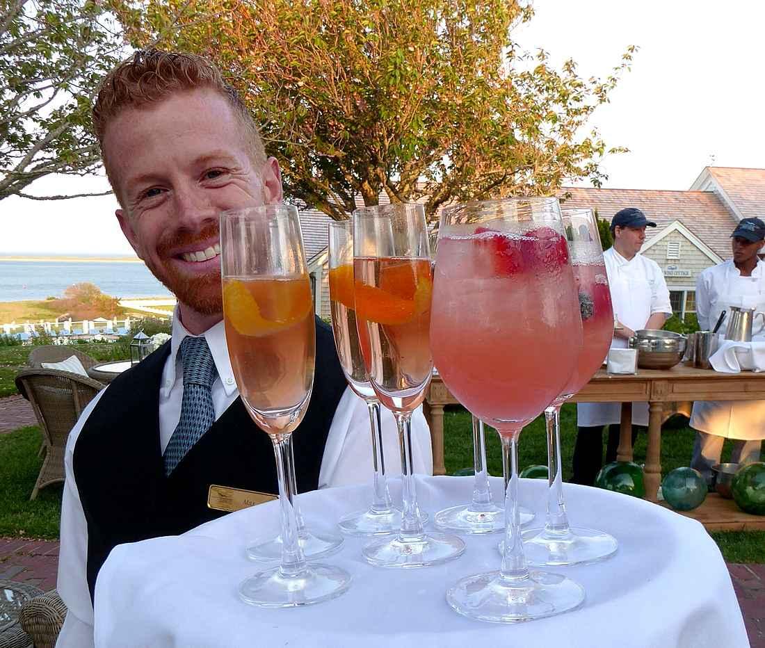 Cocktails at Chatham Bars Inn during Lexus Gran Fondo