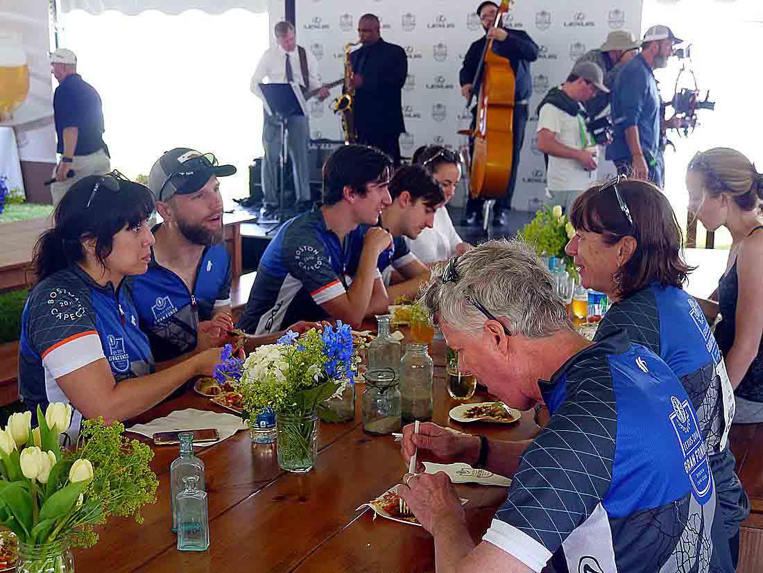 Lexus Gran Fondo finish line cookout