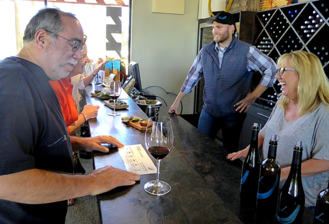 tasting at a Paso Robles winery
