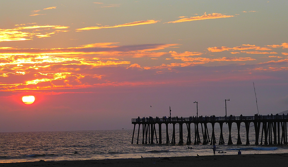 sunset and the pier at Pismo Beach