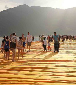 People on Floating Piers