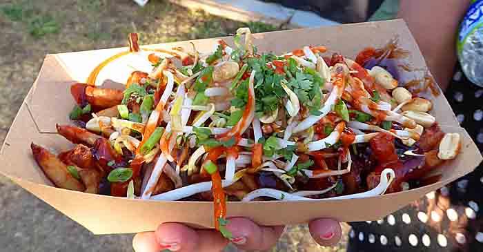 Thai vegetarian poutine at Montreal Poutinefest