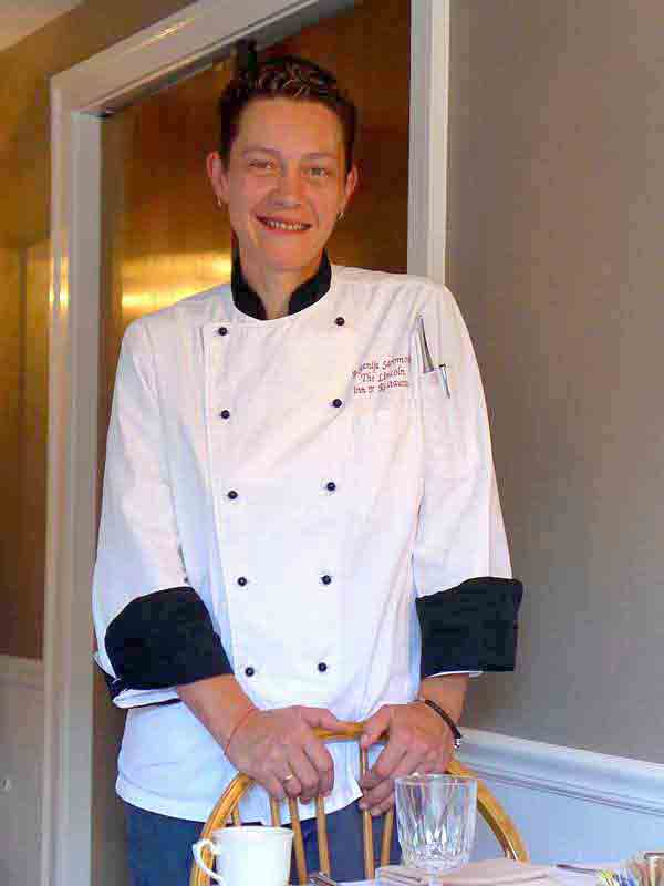 Chef Jevgenija Saromova of the Lincoln Inn in Woodstock, Vermont