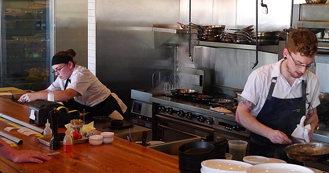 Open kitchen at Mary Eddy's in Oklahoma City