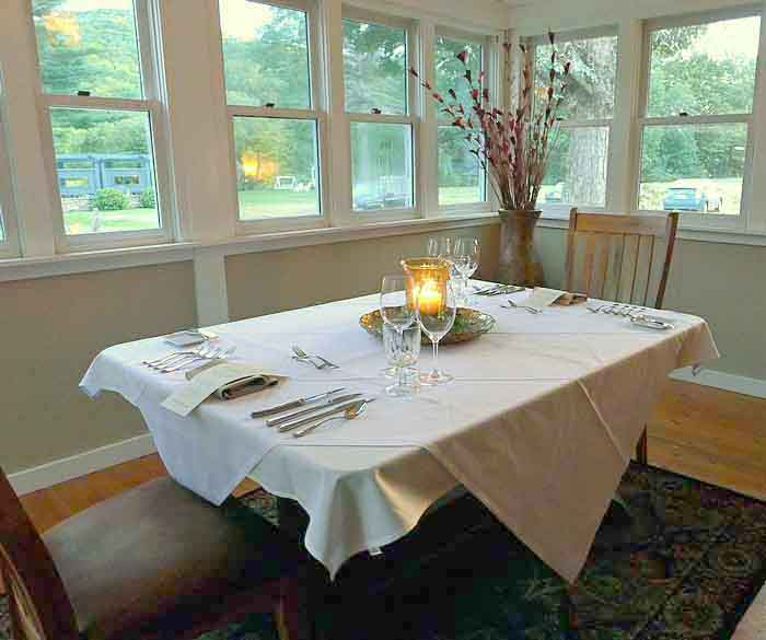 Paul Newman Dining Room at the Lincoln Inn in Woodstock, Vermont