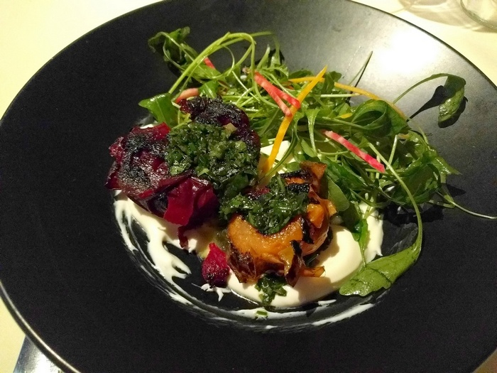 Smashed beets from The Vegetable Butcher