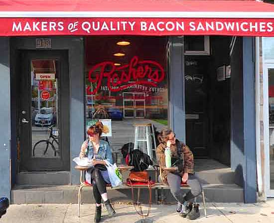 Rashers in Toronto's Leslieville neighborhood