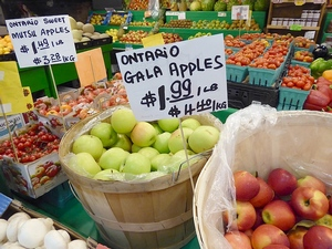 apples at Farmers Market at St. Lawrence Market in Toronto