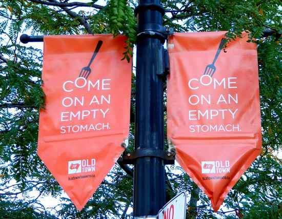 Banner outside St. Lawrence Market in Toronto