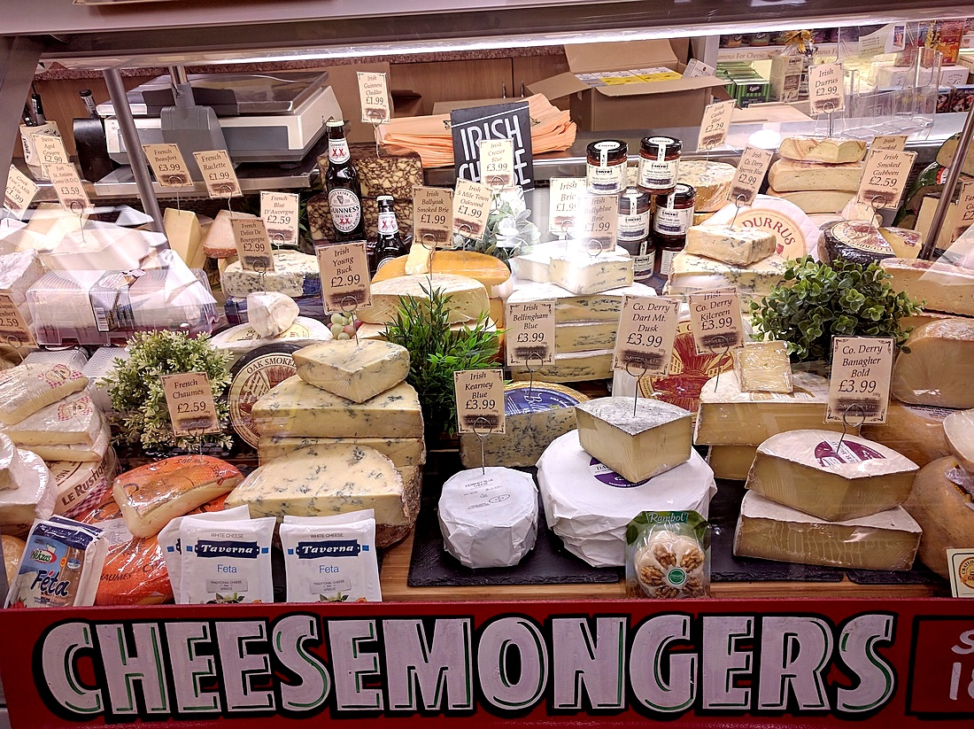 Sawers in Belfast has a broad selection of Irish cheeses.