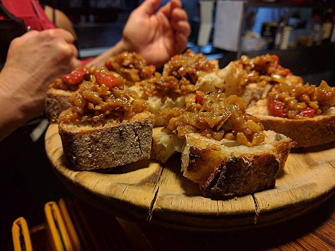 albondigas de bacalao at Taberna de Haro