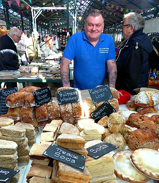 Baker at St. George's Market in Belfast