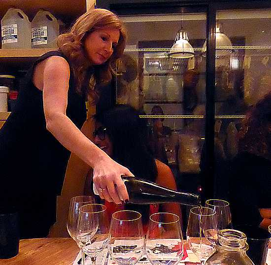 Magdalena Kaiser pours tasting of VQA Ontario wines in Toronto.