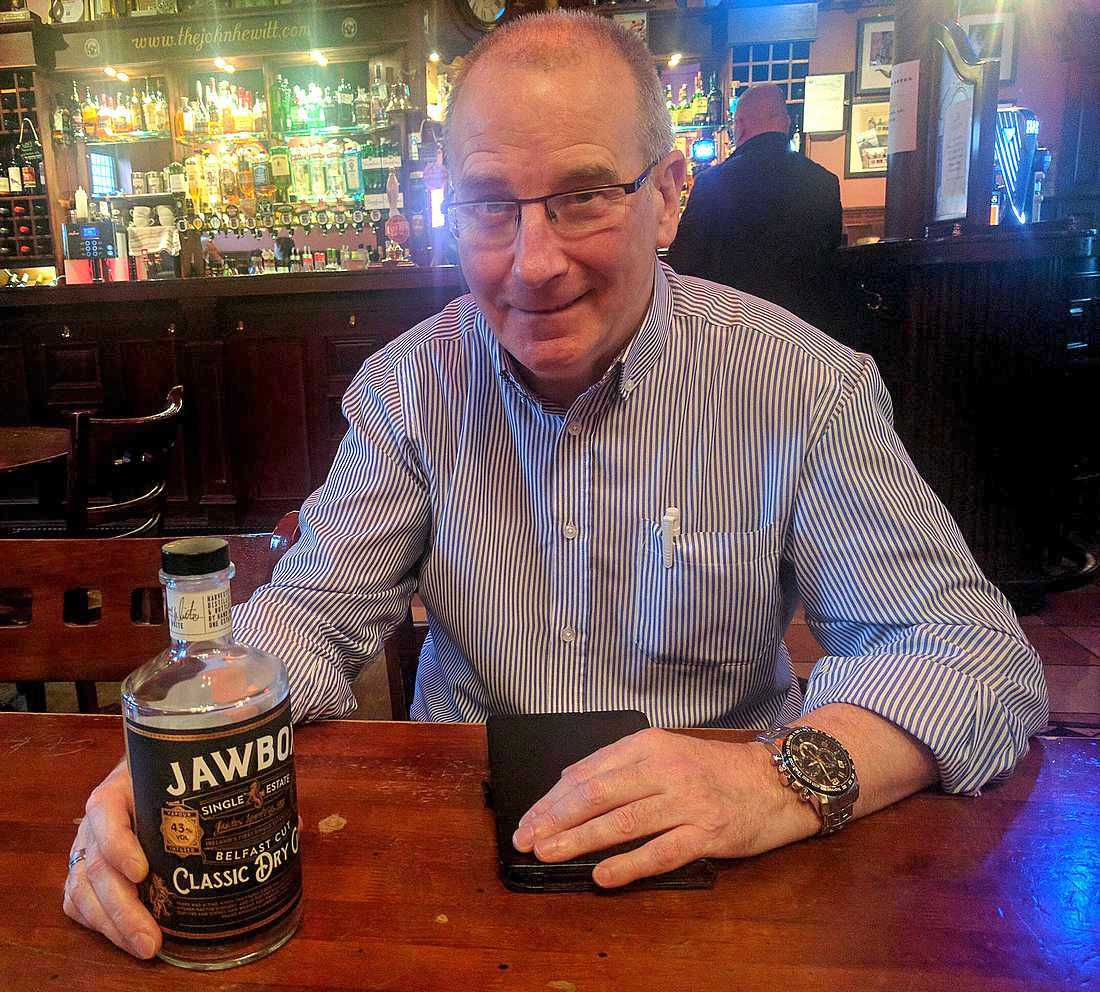 Gerry White and his Jawbox Gin