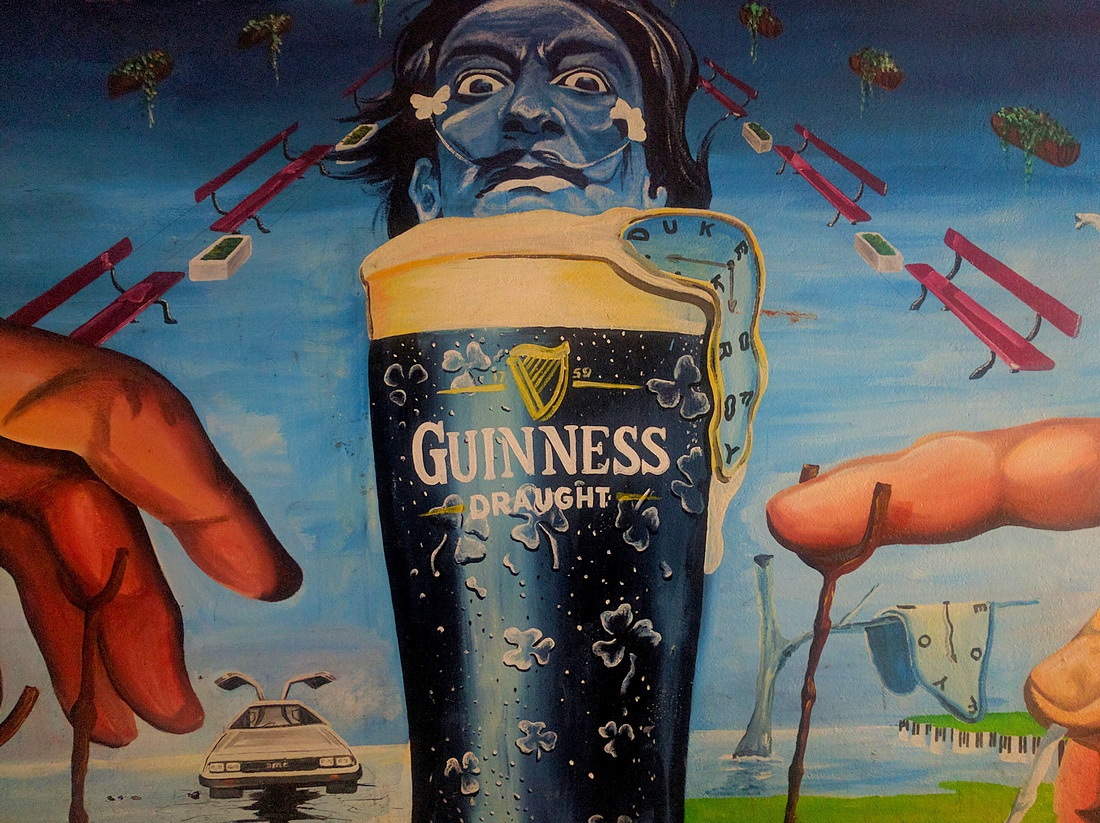 The Guinness Creation mural in Belfast's Cathedral Quarter