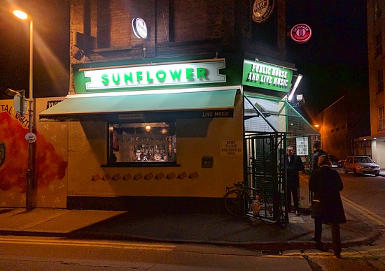 Exterior of The Sunflower in Belfast's Cathedral Quarter