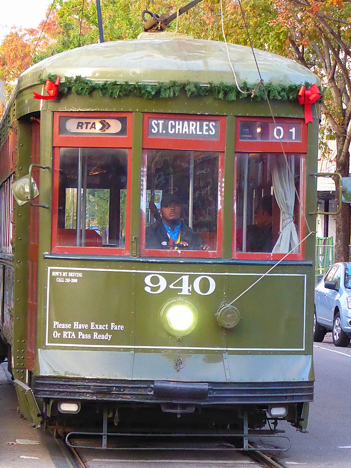 St. Charles streetcar in New Orleans