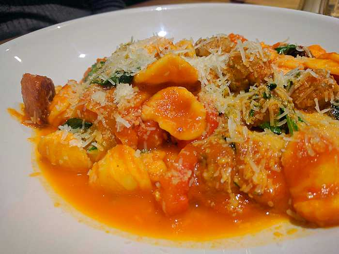 Spicy meatballs with orecchiette at Hadskis