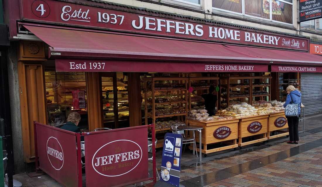 Jeffers Home Bakery on College Street in Belfast