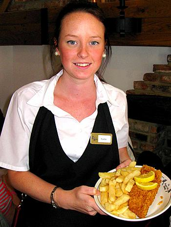 Fish and chips is the most popular dish at the Magpie Café in Whitby, United Kingdom