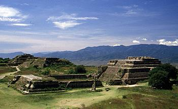 ruins of Monte Alban outside Oaxaca