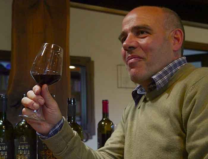 Francesco Sedilesu sips his riserva