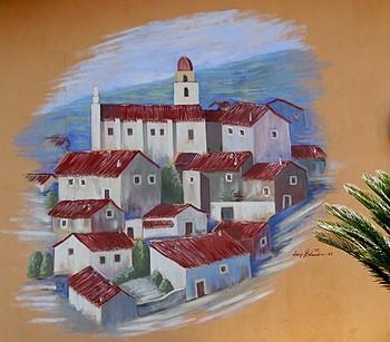 Cantina di Oliena mural